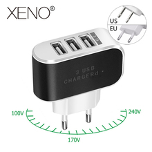 5V 2A US/EU plug Mobile Phone Charger Universal Quick Charge 3 ports USB Fast Charging Travel portable Wall Mobile Phone Charger quick charge 3 0 usb charger travel for iphone samsung micro usb type c fast charging 3 ports eu us plug mobile phone charge