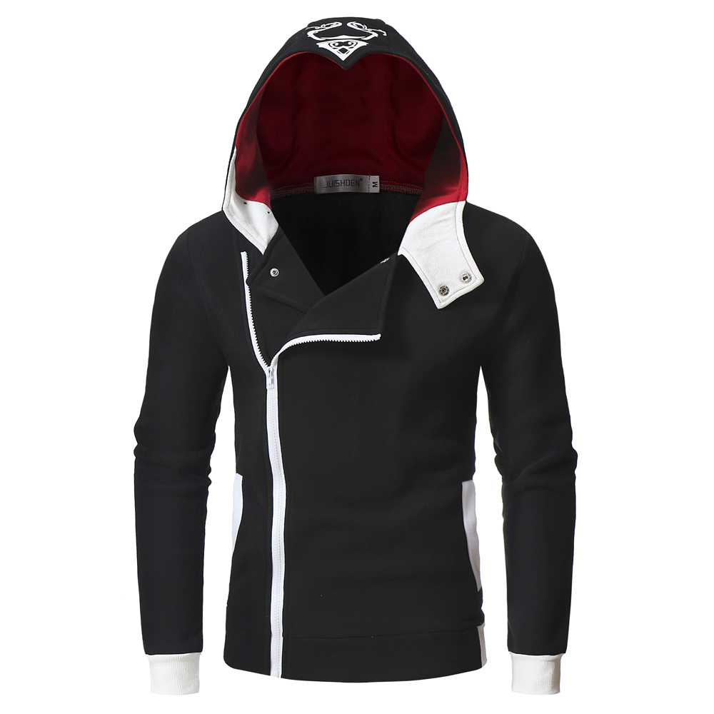 2019 Assassins Creed Mens Sweatshirts Patchwork Casual Hooded Sweatshirt Men Cardigan Stranger Things Zipper Hoodies Men Coat