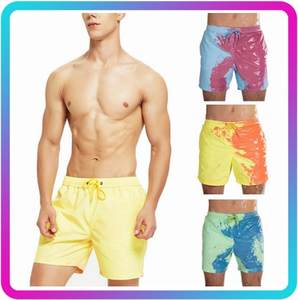 Summer Shorts Color Changing Quick Dry Swimming Shorts Men Beach Pants Discoloration Swimwear for Wtion Swimwear Sports Surffing