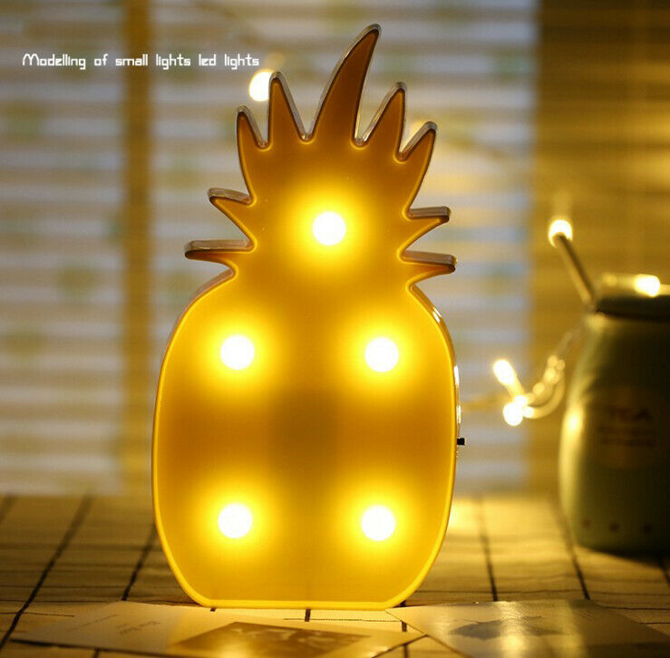 Mini 3D Pineapple LED Table Night Light Marquee Sign Table Night Lamps For Kids Children Gift Bedroom Decoration