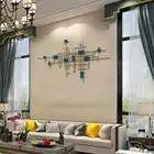 Europeu de ferro forjado decoração da parede pingente casa sala tv fundo parede pendurado artesanato hotel escritório adesivo murais - 4