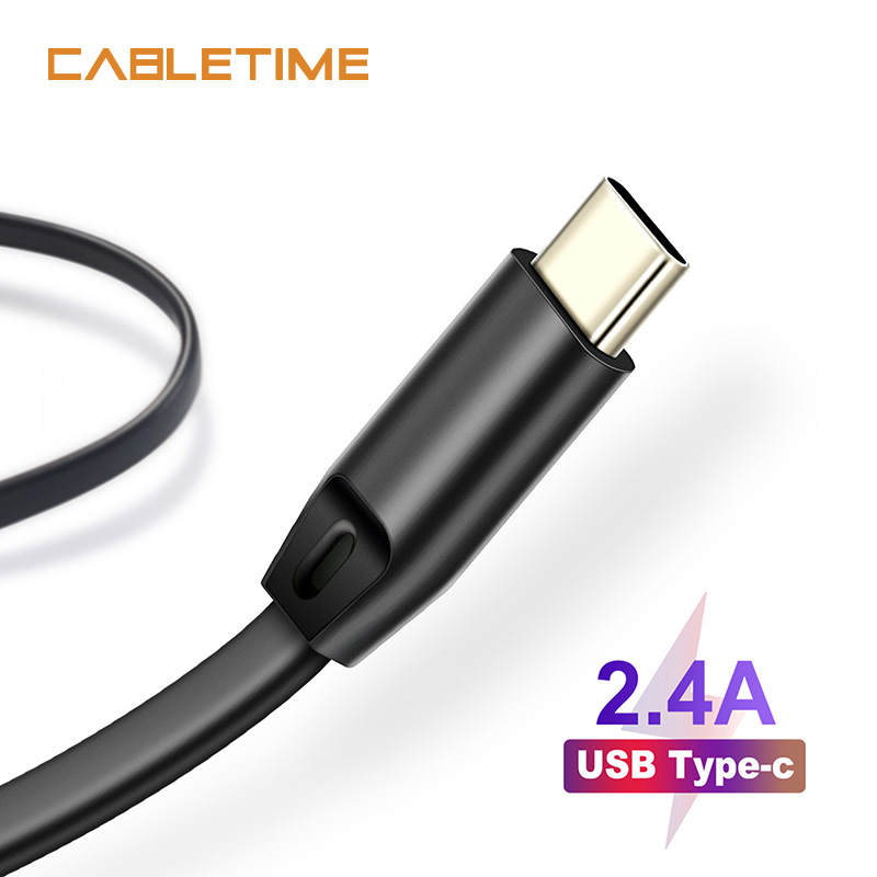 Cabletime USB Type C Cable USB C Charge Cord Type C Fast Charging Mobile Cable for Oneplus Samsung S10 Huawei Nintendo N151