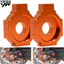 1 Pair Motorcycle Accessories CNC Rear Axle Spindle Chain Adjuster Blocks for KTM DUKE 125 200 390 2013 2014 2015 2016