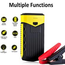 Car Jump Starter Powerbank with Fast Charge 3.0 1000A Peak Current 7200mAh Portable with Quick Charge up to 6 L Gas Engine or