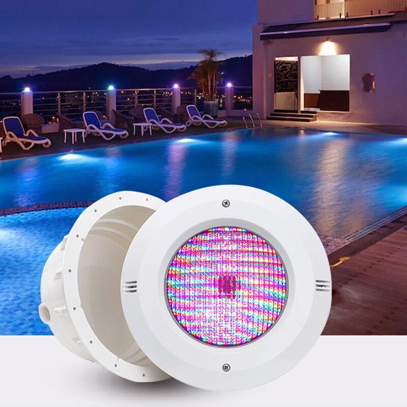 Горячая Распродажа LED Встроенный бассейн с трансформатором 12V ABS RGB Сменные водонепроницаемые подводные фонари IP68 встроенные светильники ...