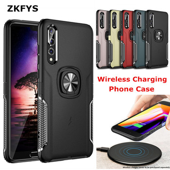 Magnetic Metal Ring Back Cover For iPhone 6 6S 7 Plus Wireless Charging Phone Cases For Huawei P20 P30 Lite Nova 3 3e 3i V10 V20