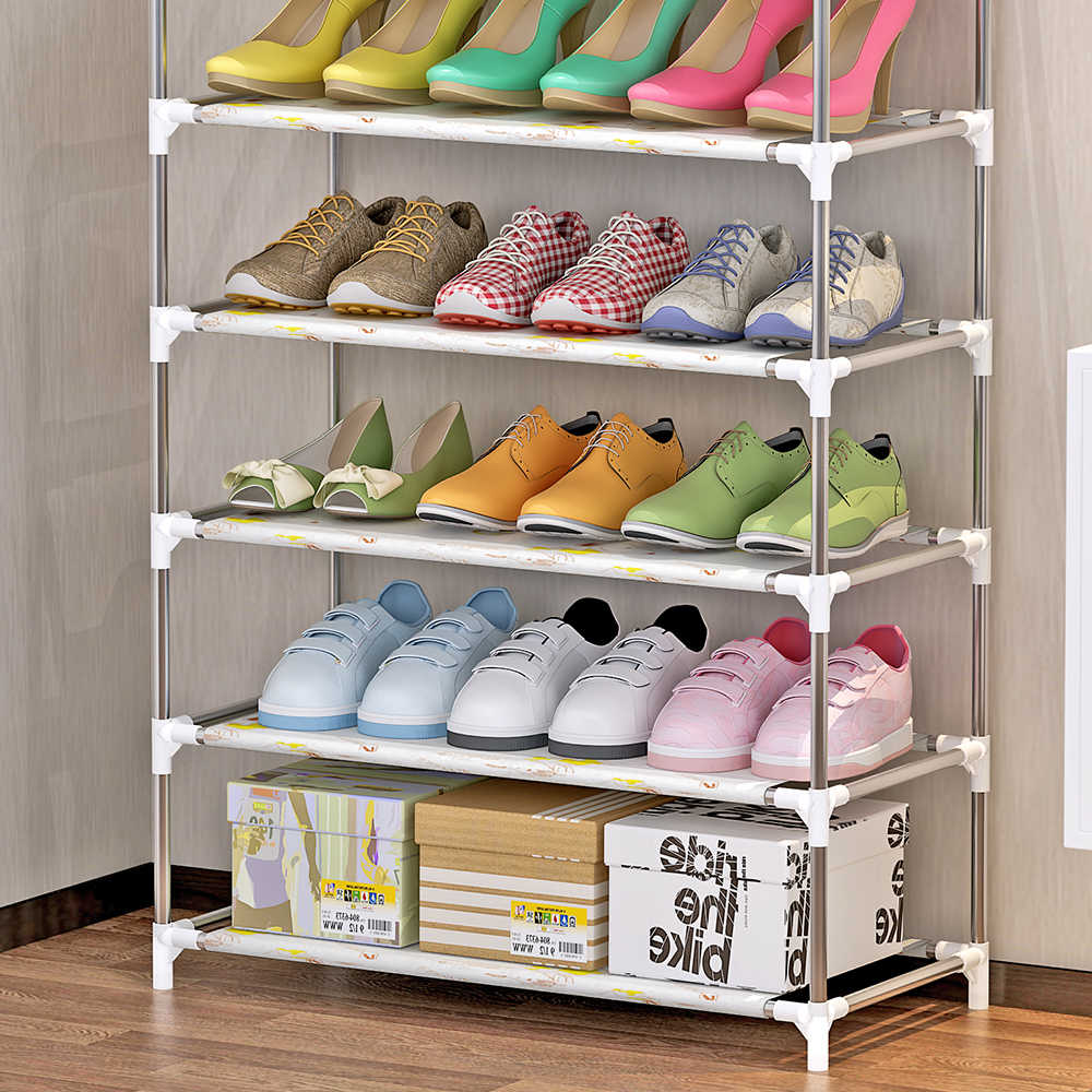 4/5/6 schichten Schuh Rack Schuh Veranstalter Regal Multi Schicht Schuhe Lagerung Halter Schuh Schrank Stapelbar Regale shoerack Stehen