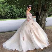 Изящная вышивка бальное платье Бальные платья с открытыми плечами