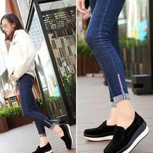 Женская обувь на платформе; Повседневная прогулочная обувь, увеличивающая рост; удобные мокасины; лоферы на плоской подошве; уличные женские кроссовки на танкетке