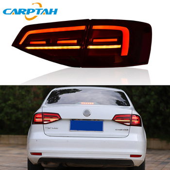 Car Styling Taillight Tail Lights For Volkswagen Jetta 2015 - 2018 Rear Lamp DRL + Dynamic Turn Signal + Reverse + Brake LED akd car styling for toyota hilux tail lights 2014 2016 new revo led tail light vigo led rear lamp drl brake park signal page 5