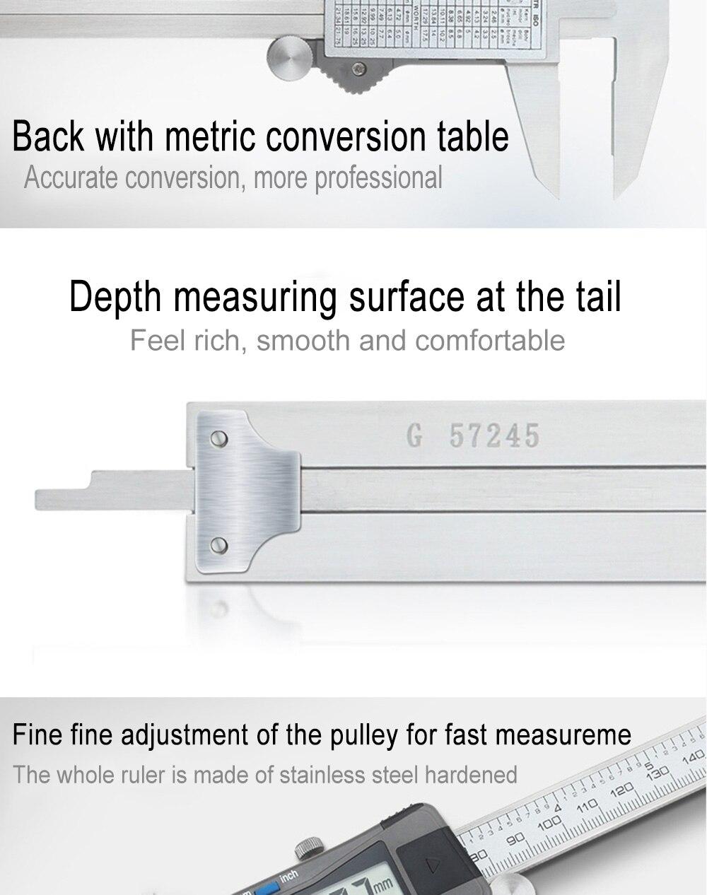 Ferramenta de medição plástica eletrônica do calibre