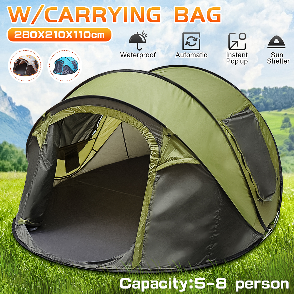 5-8 People Fully Automatic Pop Up Camping Tent 1