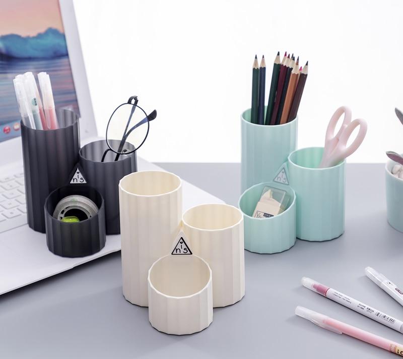 Creative Fashion  Hexagonal Pen Holder Wheat Stalk Korean Style Multi-function Desktop Storage Box Office Stationery