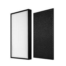 цена на 1 set (2pcs) air purifier filter HEPA activated carbon filter for Sharp kc-c70e replacement parts
