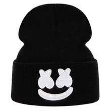 American DJ Chris Comstock Doctom Beanie Cotton Embroidery Winter Hat Knitted Ha