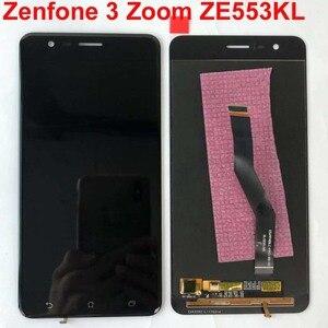 Image 1 - Orijinal test Asus ZenFone 3 Zoom için ZE553KL Z01HD LCD ekran dokunmatik ekran Digitizer meclisi için çerçeve ile Asus ZE553KL LCD