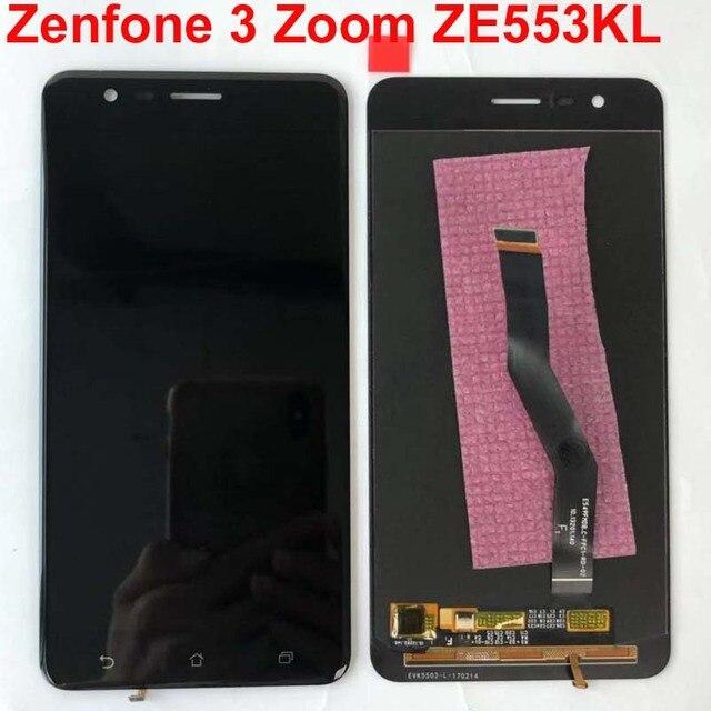 Orijinal test Asus ZenFone 3 Zoom için ZE553KL Z01HD LCD ekran dokunmatik ekran Digitizer meclisi için çerçeve ile Asus ZE553KL LCD