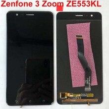 Teste original para asus zenfone 3 zoom ze553kl z01hd lcd screen display toque digitador assembléia com quadro para asus ze553kl lcd