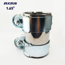 """ZUCZUG 1.65"""" 42mm Clamp On Exhaust Pipe Clamp Exhaust Muffler Pipe Clamp Exhaust Pipe Connector Sleeve Joiner"""