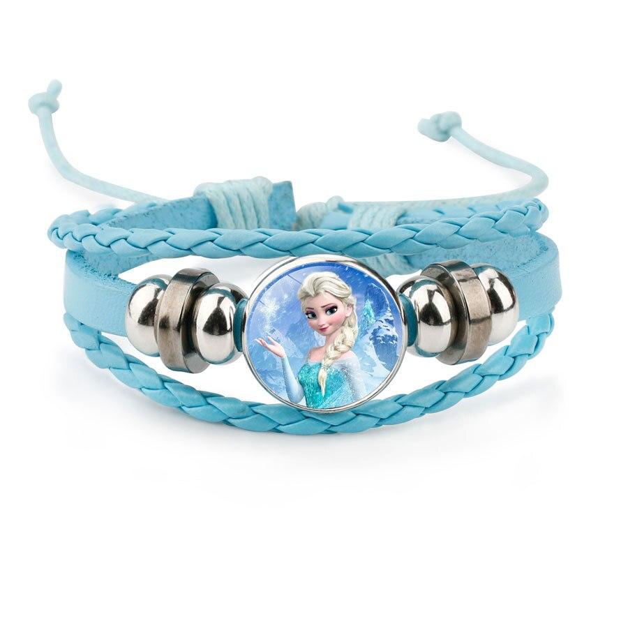 Disney Cartoon  Princess Children Bracelet Frozen Elsa Lovely Wristand Girl Gift Clothing Accessories Bangle  Make Up Jewelry
