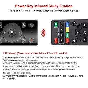 Image 2 - H17 Stimme Fernbedienung 2,4G Wireless Air Maus mit IR Lernen Mikrofon Gyroskop für Android TV Box HK1 Max x88 pro