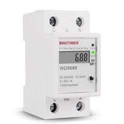 Cyfrowe zużycie energii kWh na szynę Din inteligentny Tester energii WiFi Power Watt przełącznik zdalny Tester Monitor sterowania 110V 220V AC