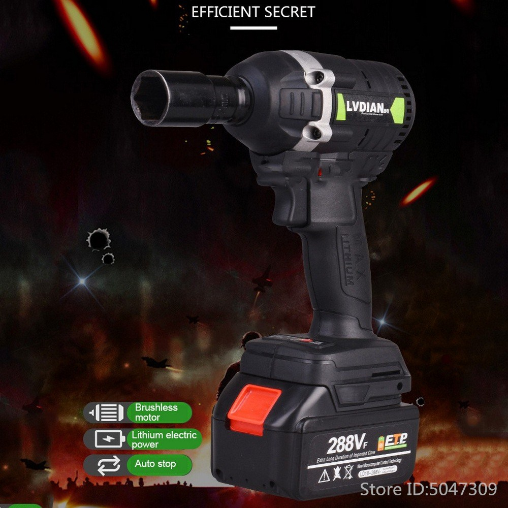 Cordless Electric Wrench Impact Driver Socket Wrench 30N.m 288VF 19800mAh Lithium Battery Hand Drill Installation Power Tools