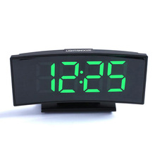 Electronic Clock Curved-Mirror Multi-Function Desktop External Power-Supply