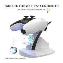 HBP-253 Dual Controller Charger Stand Wireless Joystick Charging Dock Cradle with Indicator Lightsfor Sony PS5 Gamepad
