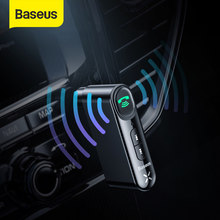 Baseus Car Aux Bluetooth 5,0 adaptador inalámbrico 3,5mm receptor de Audio para Auto Bluetooth manos libres coche Kit altavoz auriculares