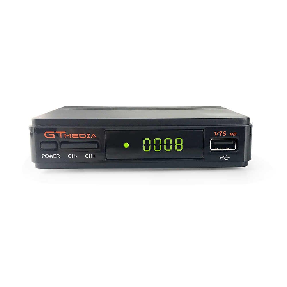 Gtmedia V7S Hd DVB-S2 1080P Satelliet Tv-ontvanger + Usb Wifi Anttena Spanje Duitsland Tv Tuner Pk V8 Super spanje Europa Cline