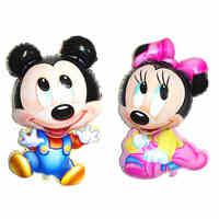 10PCS Cute Mickey Minnie Balloons Children's Birthday Party 80CM Mickey Mouse Inflatable Air Globos Decor Baby Shower Toys Gifts