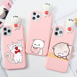 Cartoon Couple Fashion Case For iPhone XR 11 Pro XS Max X 5 Silicone Matte Cover For iphone 7 8 6 S 6S Plus SE 2 2020 Case Girl(China)