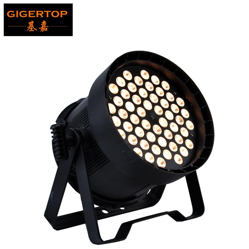 Gigertop TP-P5405G Golden Color Indoor Stage DMX 54 X 5W Cree Led Par Light IP20 Fan Cool High Brightness 20 Degree Lens