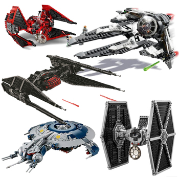 New 2020 Star Series Wars King Tie Intercept Fighter Building Blocks Brick Toys For Children Compatible Lepining Model