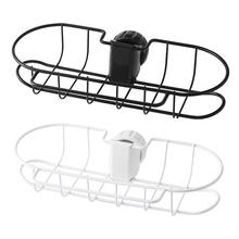 Sink Faucet Storage Rack Stainless Steel Hanging Sponge Holder Bathroom Kitchen Shelf Drain Dry Towel Organizer