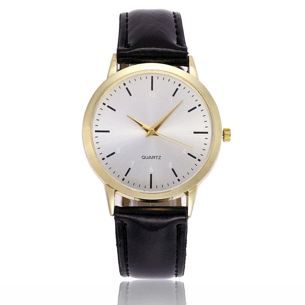 POFUNUO Simple Fashion Quartz Wristwatch Round Women Watch Analog Alloy Watches