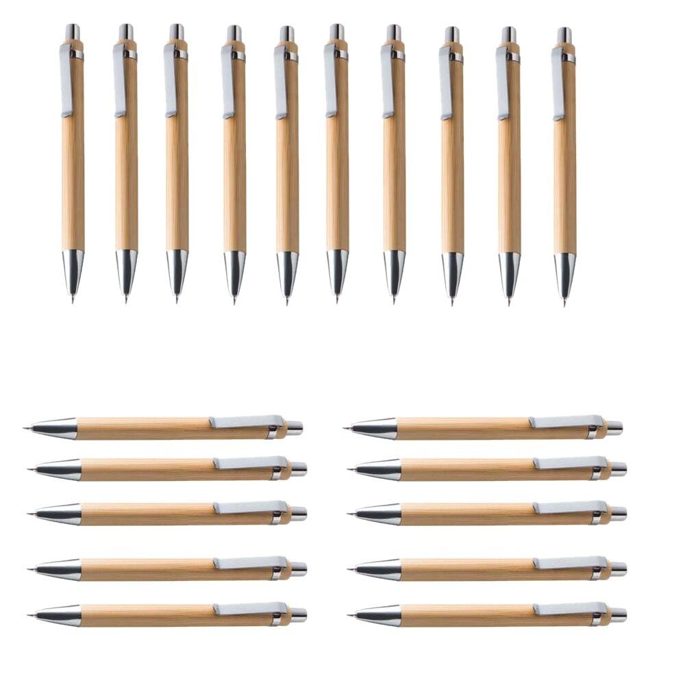 Наборы шариковых ручек Luffa Misc. Инструмент для письма из бамбукового дерева (20 комплектов)-синие чернила