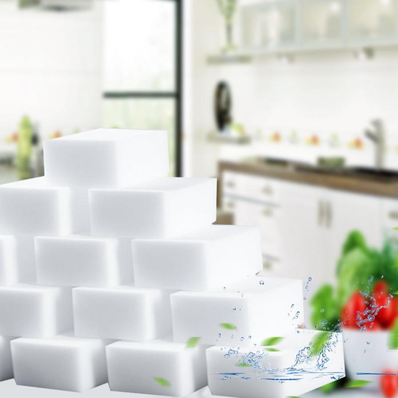 100*60*20 мм 20 шт белая нано-меламиновая губка волшебный ластик для кухни аксессуары для чистки ванной комнаты поролоновая Чистящая прокладка д...