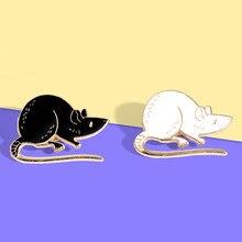 Os desenhos animados do rato metal broche esmalte pino jóias lapela emblema pinos para presentes das crianças