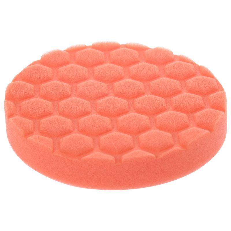6inch (150mm) Orange Polishing Pad Dual Action Polishing Pad Sponge Buff Polishing Pad Kits For Car Polisher Pack Of 5Pcs--Mediu