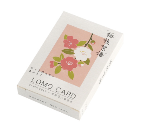 L133- Flower Branch Paper Greeting Card Lomo Card(1pack=28pieces)