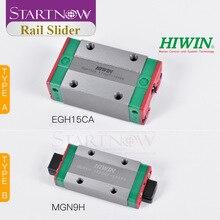 Startnow Linear Guide Sliding Block Original Taiwan HIWIN EGH15CA MGN9H QEH20CA HGW25CC for CO2 Laser Engraving Cutting Machine
