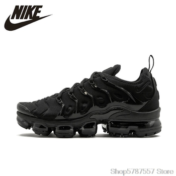 Nike Air VaporMax Plus Men's Running Shoes Original New Arrival Authentic Breathable Outdoor Sneakers #924453-004 original new arrival authentic nike breathable air max motion lw men s running shoes sneakers white blue comfortable