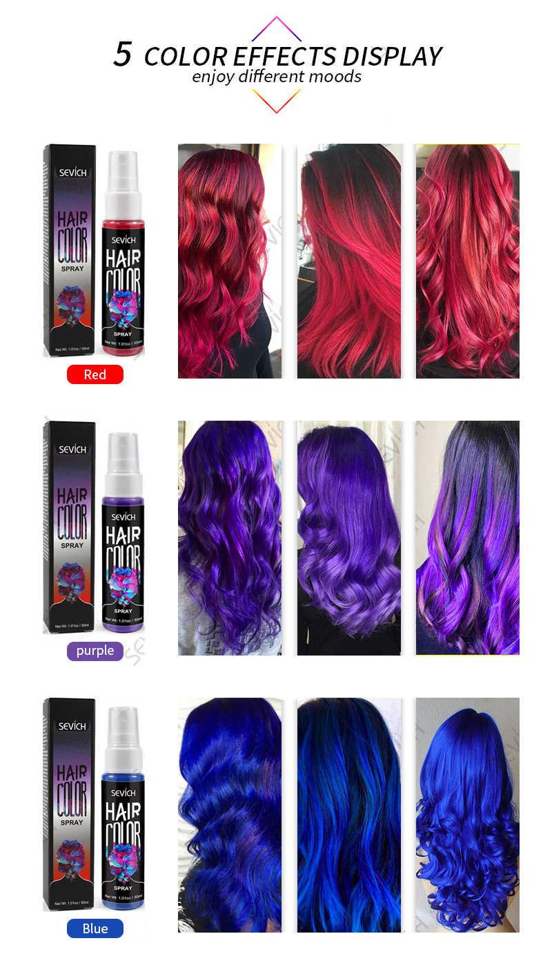 30ml Temporary Spray Hair Dye Liquid Hair Dye Unisex Hair Color Dye Red Grey Instant Color Dye Easy To Use Hair Styling Tslm1 Aliexpress