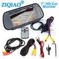 ZIQIAO 7 Zoll TFT LCD Auto Monitor HD Vorderseite Ansicht Rückansicht Kamera für Auto Reverse Parkplatz Überwachung system
