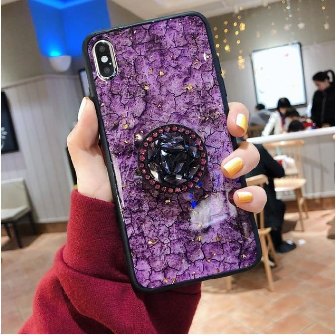 Cordino di Scintillio Per Il Iphone X XS Max XR iPhone 5.8 6.1 6.5 2019 il Caso di iphone 7 8 Più di 6 6S 5 5S SE Del Supporto Del Basamento Della Copertura
