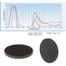 ZWB2 ультрафиолет УФ полоса проход фильтр диаметр 20,5 мм толщина 2 мм