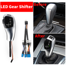 LHD LED vites kolu topuzu otomatik kol BMW için 1 3 5 serisi E81 E87 E82 E88 E90 E91 e92 E93 Z4 E89 E46 2D 4D 5D E60 E61
