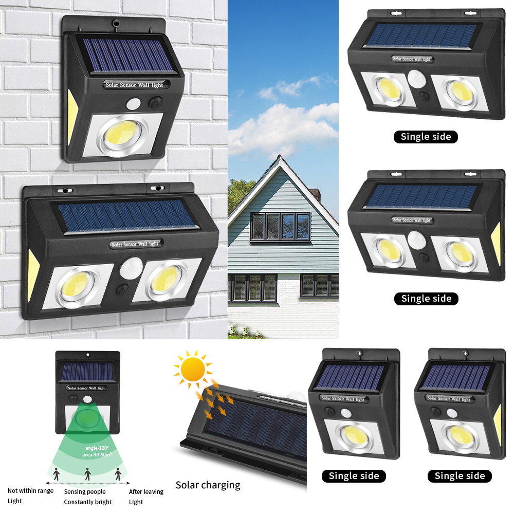 25/37/50/62 LED Solar Light Multi Modes 1/2/4pcs Solar Wall Lamp Motion Sensor Outdoor Waterproof Security Garden Lamps|Solar Lamps| |  - title=